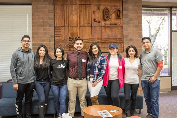 The eight Latino members of CCC's student government make up nearly half of the leadership team.