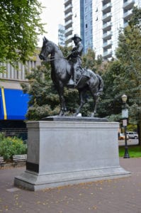 Theodore Roosevelt Statue pulled down by rioters