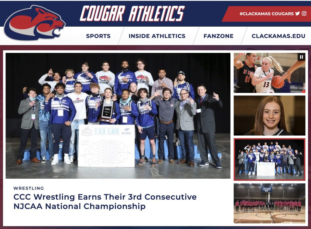new CCC athletic website